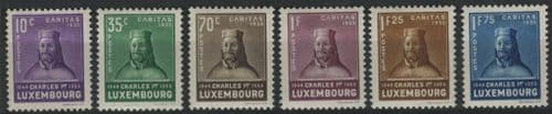 Luxembourg 1935 SG.341-346 M/M